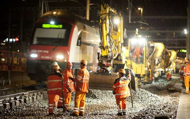 lavori treni binari ferrovia sbb ffs