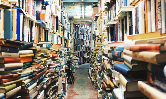 libri negozio stretto