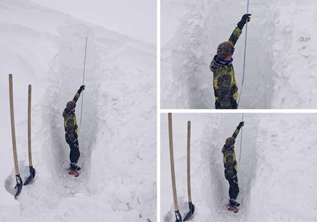 uomo neve mucchio sabbioni